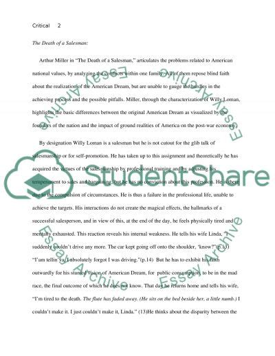 of a salesman research paper critical analysis for of a salesman research paper