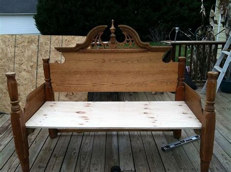bench made from old bed frame an outdoor bench made from an old queen bed frame