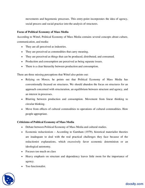 Political Economy Course Outline by Political Economy Course Outline Producer Sle Resume