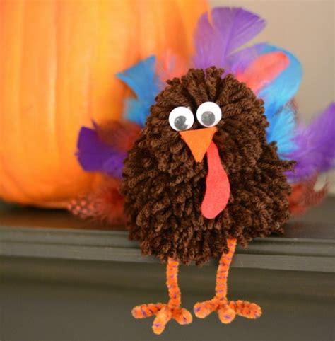how to make a turkey craft project turkey pom pom thanksgiving craft