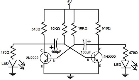 circuit diagram of astable multivibrator how to build an astable multivibrator circuit with transistors