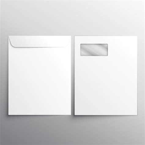photoshop template envelope full letterhead envelope with fron and back side vector