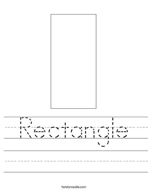 Rectangle Worksheet by Rectangle Worksheet Twisty Noodle