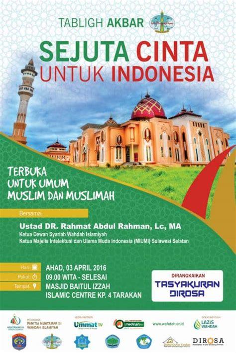 untuk indonesia tabligh akbar sejuta cinta untuk indonesia tarakan