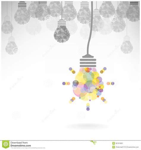 design new idea creative light bulb idea concept background design stock