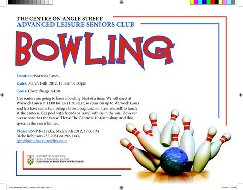 bowling flyer template bowling fundraiser flyer template