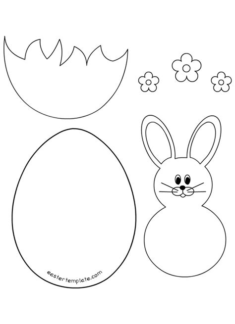 easter bunny template card easter egg template clipart 96