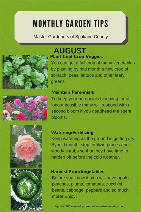 garden tips monthly gardening tips spokane county washington state