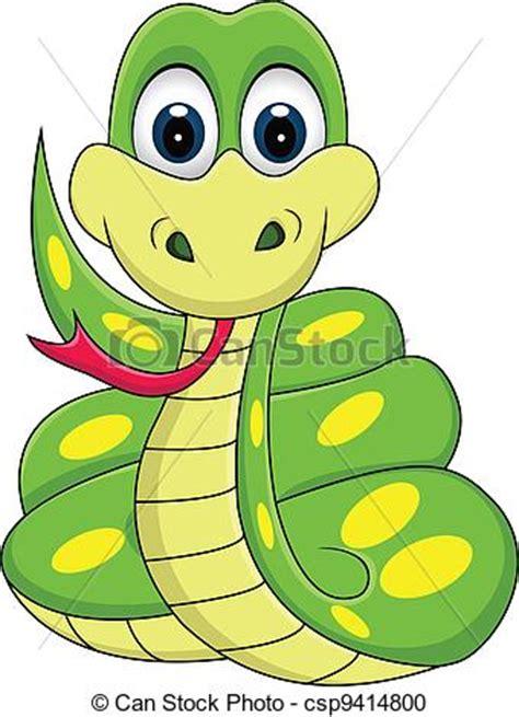 clipart divertenti clipart vettoriali di divertente serpente cartone