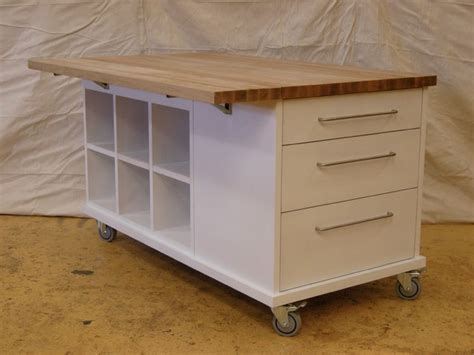 kitchen island table on wheels with table on casters