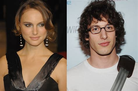 andy samberg natalie portman dating is natalie vibing with snl s most endearing nerd
