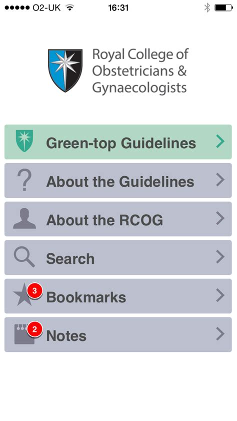 design guidelines android apps rcog guidelines app