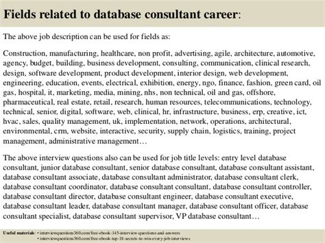 Database Consultant by Top 10 Database Consultant Questions And Answers