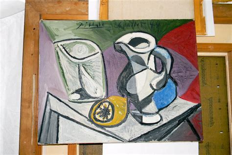 picasso paintings privately owned picasso s artwork glass and pitcher verre et pichet from