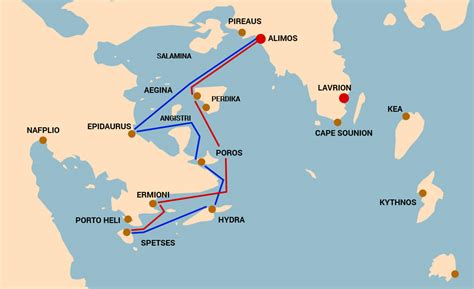 sailing greece routes sailing route saronic gulf sail greece yacht charters