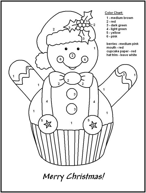 free holiday color by number coloring pages christmas color by number pages coloring home