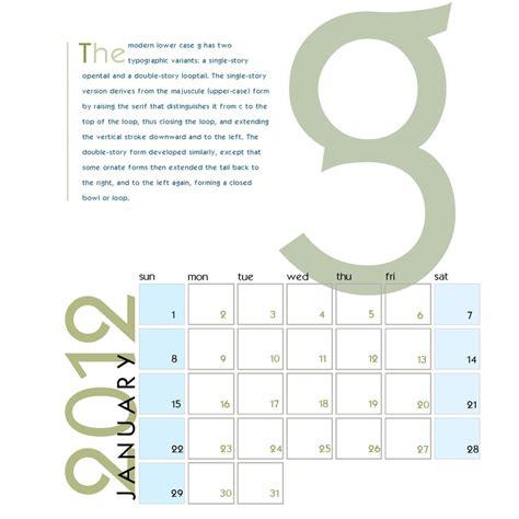 design own calendar uk typography calendar design january hinchcliff digital