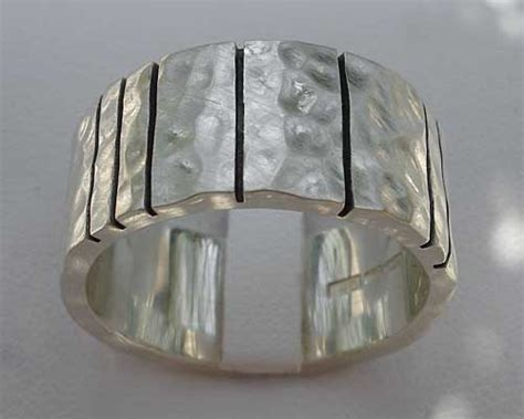 mens black etched solid sterling silver ring love2have