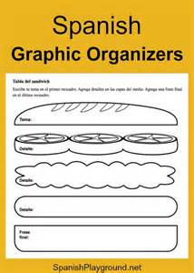 spanish graphic organizers spanish playground
