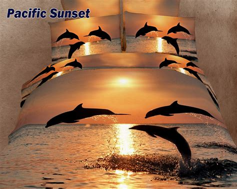 Sunset Bedding by Pacific Sunset By Dolce Mela 6 Pc King Size Duvet Cover