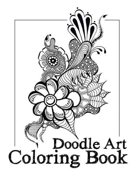 doodle coloring book doodleartcoloringbookcover zentangle sharpie markers