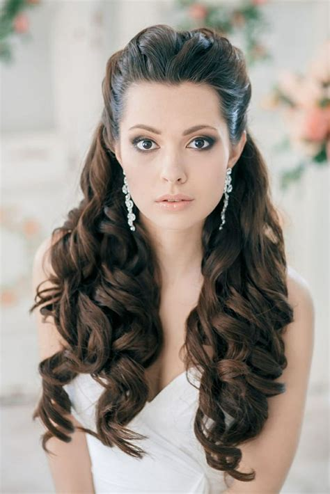 Hairstyles In Open Hair | bridal hairstyles open semi open or pinned up 100