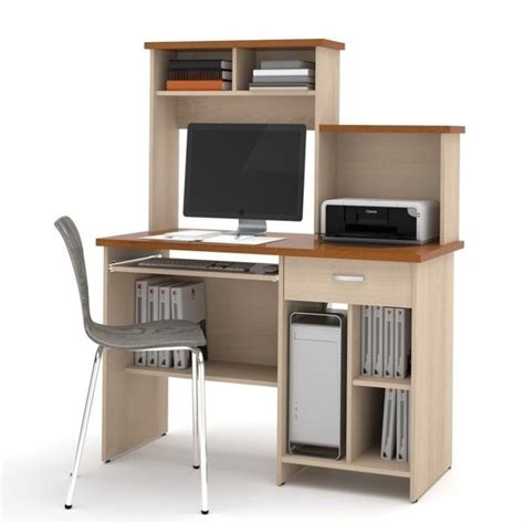 Home Office Computer Workstations Bestar Active Home Office Copper Cherry Northern Maple