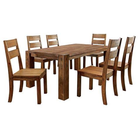 sun pine bracket leg dining sun pine 7pc sturdy dining table set wood oak target