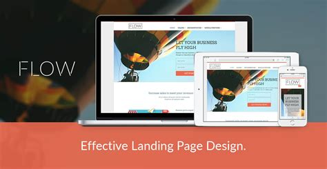 joomla landing page template flow joomla template for landing page design to promote
