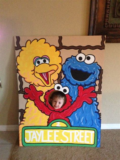 elmo photo booth props printable lets be elmo sesame street 3 character photo party cut out