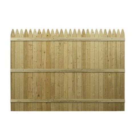Picket Fence Sections Home Depot by Barrette 6 Ft X 8 Ft Pressure Treated Spruce Pine Fir 4