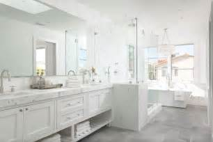 white bathroom grey floor white master bathroom with gray tiled floors