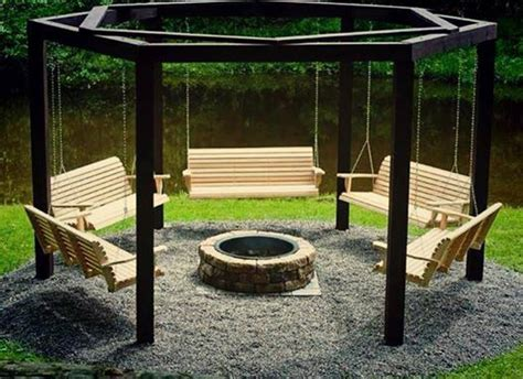 Swings Around A Fire Pit Dream Home Pinterest Swings Around Firepit