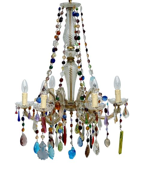 Coloured Chandeliers Uk Multi Coloured The Vintage Chandelier Company