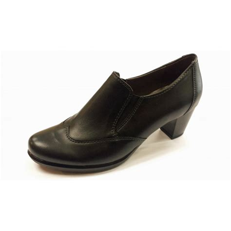 68613 01 black leather trouser shoe