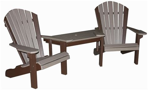 Lawn Chair With Table Attached - creekside classic tete a tete set three