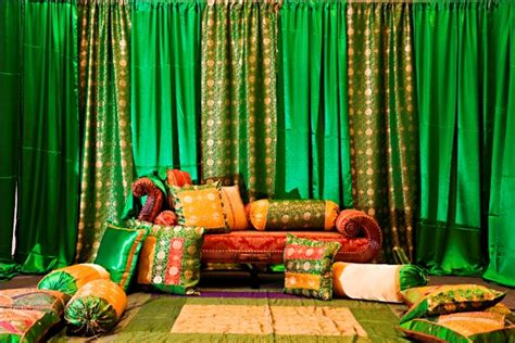 mehndi themed events green and gold themed mehndi from chicago maharani weddings