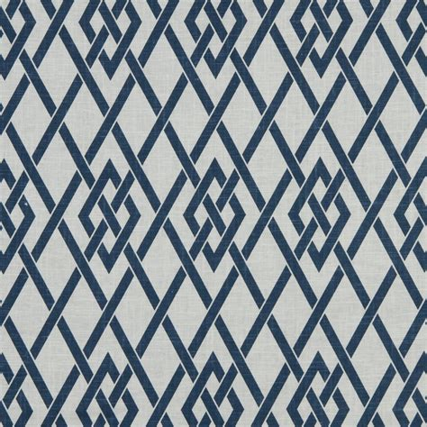 trellis fabric navy blue white trellis upholstery fabric blue geometric