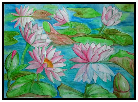watercolor water lily tutorial watercolor water lilies painting