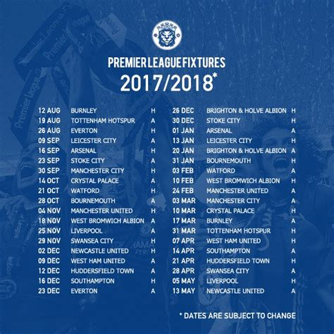 epl chelsea fixtures here s a reminder of chelsea s 2017 2018 premier league