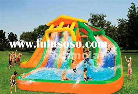backyard inflatable pools inflatable backyard water slide and pool outdoor