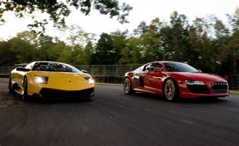Lamborghini Vs R8 2010 Audi R8 V10 Vs Lamborghini Murcielago Lp670 4 Sv 2