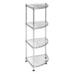 safavieh hac1004a damaris 4 tier chrome wire corner rack
