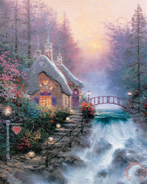thomas kinkade sweetheart cottage ii painting sweetheart