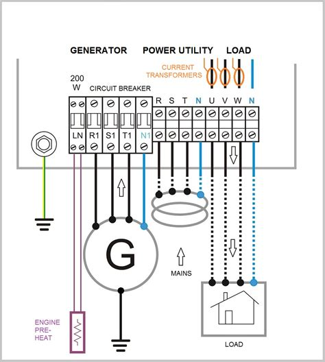 3 phase automatic transfer switch circuit diagram