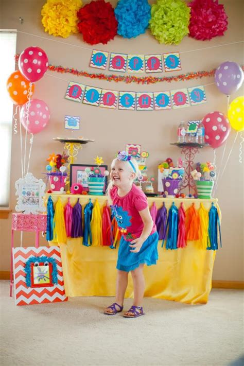 karas party ideas girly monster bash girl birthday party planning ideas decorations supplies