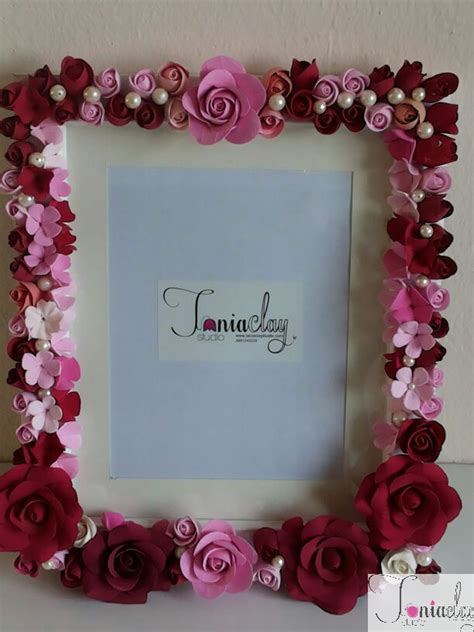 Frames Handmade - 1 great handmade photo frames with flower paper pic