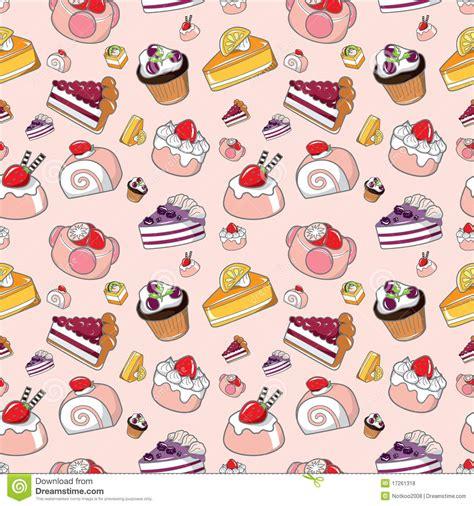 Seamless Pattern Cake | seamless cake pattern stock vector illustration of
