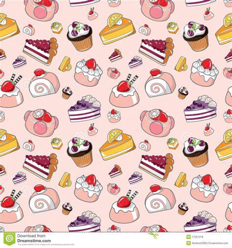 Seamless cake pattern stock vector. Image of chocolate