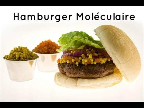 g駘ification cuisine mol馗ulaire hamburger moleculaire